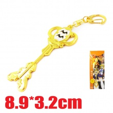 妖精的尾巴钥匙扣 水瓶座钥匙扣 星座钥匙扣金色12款项链挂件 水瓶座