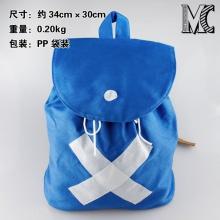 原版 海贼王原版乔巴双肩背包 cosplay道具背包 蓝色X号书包