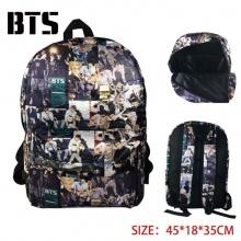 防弹少年团 韩国明星BTS周边 BTS大容量多功能帆布全彩双肩背包