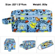 宠物小精灵动漫周边大容量多功能双层拉链笔袋文具盒化妆包