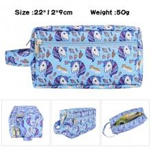 独角兽动漫周边大容量多功能双层拉链笔袋文具盒化妆包