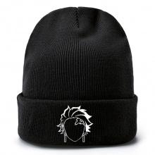 鬼灭之刃毛线帽 针织帽 男女套头毛绒帽子