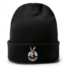 我的英雄学院毛线帽 针织帽 男女套头毛绒帽子