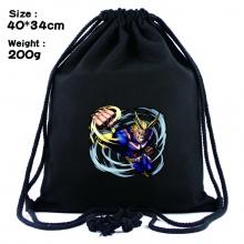 我的英雄学院周边黑色抽绳背包 束口袋书包