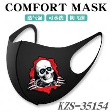 万圣节骷髅头cosplay周边口罩 世界国旗防风保暖防尘防雾霾面罩