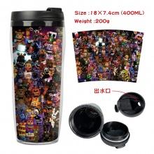 玩具熊的午夜后宫周边双层隔热塑料杯子 运动水壶 凉水杯创意水杯