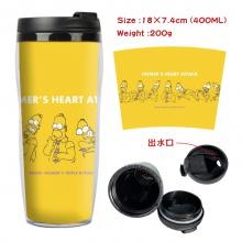 辛普森一家周边双层隔热塑料杯子 运动水壶 凉水杯创意水杯