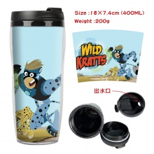 动物兄弟周边双层隔热塑料杯子 运动水壶 凉水杯创意水杯